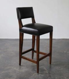 Costantini Design Bruno Stool from Costantini in Argentine Rosewood and Leather - 1563699