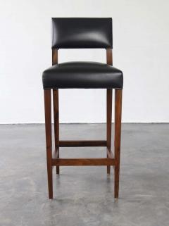 Costantini Design Bruno Stool from Costantini in Argentine Rosewood and Leather - 1563700