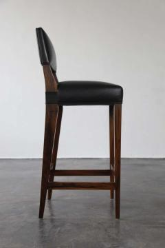 Costantini Design Bruno Stool from Costantini in Argentine Rosewood and Leather - 1563701