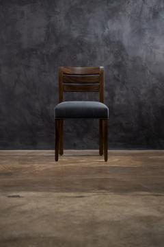 Costantini Design Contemporary Exotic Wood and Leather Side Chair from Costantini Renzo - 2090037