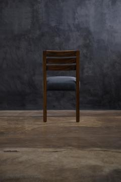 Costantini Design Contemporary Exotic Wood and Leather Side Chair from Costantini Renzo - 2090038