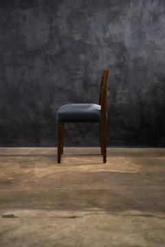 Costantini Design Contemporary Exotic Wood and Leather Side Chair from Costantini Renzo - 2090040