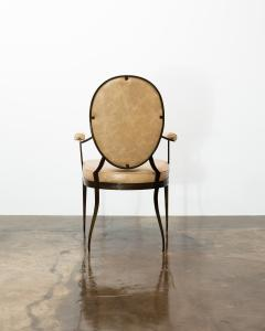 Costantini Design Contemporary Forged Iron and Upholstered Chair from Costantini Andre - 2121651