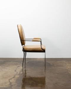 Costantini Design Contemporary Forged Iron and Upholstered Chair from Costantini Andre - 2121652
