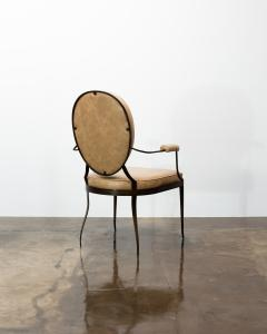 Costantini Design Contemporary Forged Iron and Upholstered Chair from Costantini Andre - 2121653
