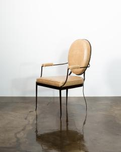 Costantini Design Contemporary Forged Iron and Upholstered Chair from Costantini Andre - 2121654