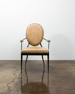 Costantini Design Contemporary Forged Iron and Upholstered Chair from Costantini Andre - 2121656