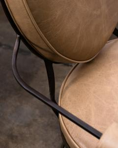 Costantini Design Contemporary Forged Iron and Upholstered Chair from Costantini Andre - 2121733