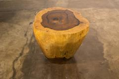 Costantini Design Costantini Hand Carved Live Edge Solid Wood Trunk Cocktail Table 37 In Stock - 2080112