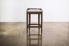 Costantini Design Exotic Wood Contemporary Sleek Counter Stool in Leather from Costantini Pia - 1944119