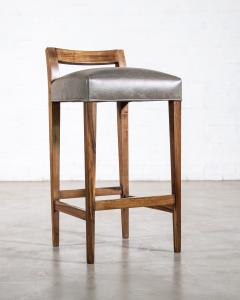 Costantini Design Exotic Wood Contemporary Stool in Leather from Costantini Umberto - 1958721