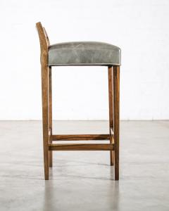 Costantini Design Exotic Wood Contemporary Stool in Leather from Costantini Umberto - 1958722