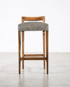 Costantini Design Exotic Wood Contemporary Stool in Leather from Costantini Umberto - 1958723