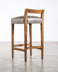 Costantini Design Exotic Wood Contemporary Stool in Leather from Costantini Umberto - 1958724