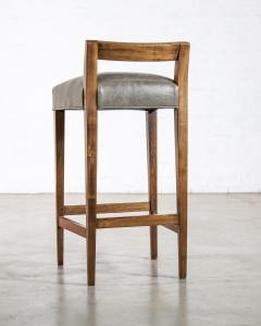 Costantini Design Exotic Wood Contemporary Stool in Leather from Costantini Umberto - 1958727