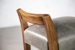 Costantini Design Exotic Wood Contemporary Stool in Leather from Costantini Umberto - 1958729