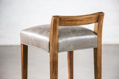 Costantini Design Exotic Wood Contemporary Stool in Leather from Costantini Umberto - 1958730