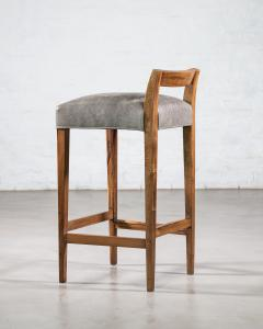 Costantini Design Exotic Wood Contemporary Stool in Leather from Costantini Umberto - 1958731