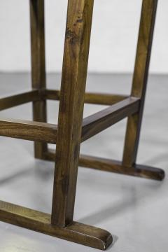 Costantini Design Exotic Wood Counter Stool w Slung Leather Seat Bronze from Costantini Piero - 1935638