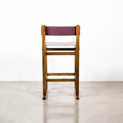 Costantini Design Exotic Wood Counter Stool with Leather Seat and Bronze from Costantini Piero - 2128223