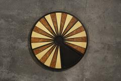 Costantini Design Exotic Wood Inlaid Round Backgammon Table by Costantini - 1879379