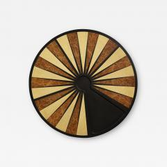 Costantini Design Exotic Wood Inlaid Round Backgammon Table by Costantini - 1880492