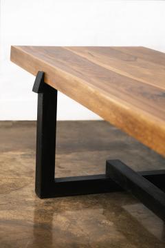 Costantini Design Exotic Wood Rustic Black Steel Bench from Costantini Donato In Stock  - 2031097