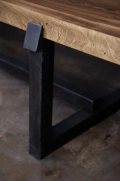 Costantini Design Exotic Wood Rustic Black Steel Bench from Costantini Donato In Stock  - 2031098