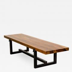 Costantini Design Exotic Wood Rustic Black Steel Bench from Costantini Donato In Stock  - 2047464