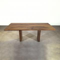 Costantini Design Exotic Wood Twin Pedestal Modern Dining Table from Costantini Andre In Stock - 2101731