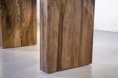 Costantini Design Exotic Wood Twin Pedestal Modern Dining Table from Costantini Andre In Stock - 2101736