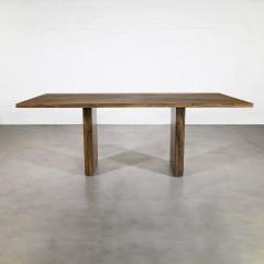 Costantini Design Exotic Wood Twin Pedestal Modern Dining Table from Costantini Andre In Stock - 2101741