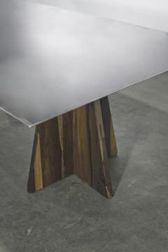 Costantini Design Fierro Table Argentine Rosewood and Metal Top from Costantini Design - 1661736