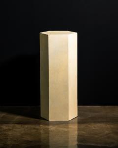 Costantini Design Goatskin Modern Minimal Side Table by Costantini Pergamino Hex Alto In Stock - 2060494
