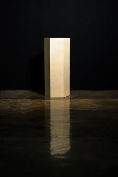 Costantini Design Goatskin Modern Minimal Side Table by Costantini Pergamino Hex Alto In Stock - 2060499