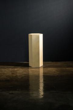 Costantini Design Goatskin Modern Minimal Side Table by Costantini Pergamino Hex Alto In Stock - 2060501