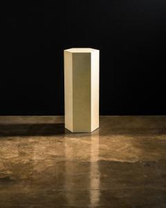 Costantini Design Goatskin Modern Minimal Side Table by Costantini Pergamino Hex Alto In Stock - 2060503