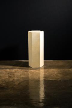 Costantini Design Goatskin Modern Minimal Side Table by Costantini Pergamino Hex Alto In Stock - 2060509