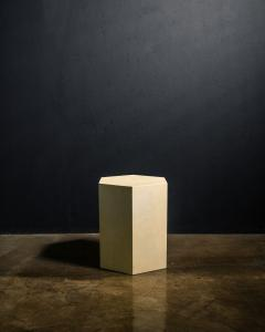 Costantini Design Goatskin Modern Minimal Side Table by Costantini Pergamino Hex Chico In Stock - 2060610