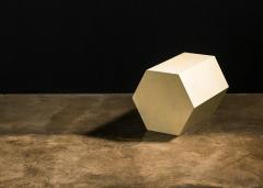 Costantini Design Goatskin Modern Minimal Side Table by Costantini Pergamino Hex Chico In Stock - 2060663