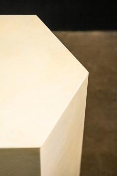 Costantini Design Goatskin Modern Minimal Side Table by Costantini Pergamino Hex Chico In Stock - 2060675