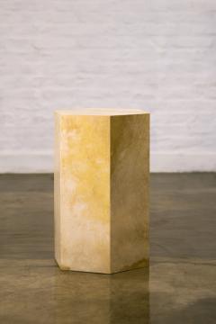 Costantini Design Goatskin Modern Minimal Side Table from Costantini Pergamino Hex In Stock - 1986874