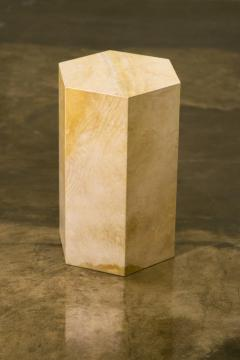 Costantini Design Goatskin Modern Minimal Side Table from Costantini Pergamino Hex In Stock - 1986877