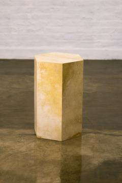 Costantini Design Goatskin Modern Minimal Side Table from Costantini Pergamino Hex In Stock - 1986878
