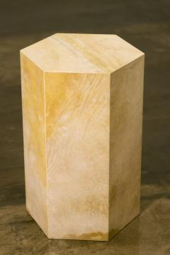 Costantini Design Goatskin Modern Minimal Side Table from Costantini Pergamino Hex In Stock - 1986884