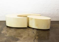 Costantini Design Goatskin Modern Sculptural Nesting Coffee Tables from Costantini Cadenza - 2041977
