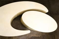 Costantini Design Goatskin Modern Sculptural Nesting Coffee Tables from Costantini Cadenza - 2041985