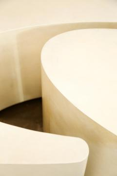 Costantini Design Goatskin Modern Sculptural Nesting Coffee Tables from Costantini Cadenza - 2041996