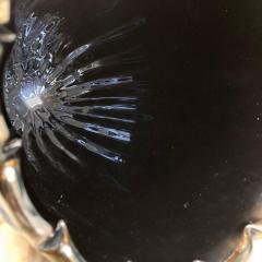 Costantini Design Late20th Century Pair of Iridescent Black Murano Glass Vases by Costantini - 1696711