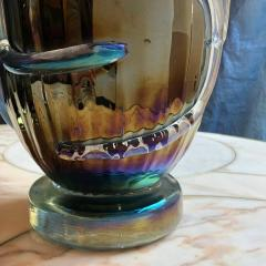 Costantini Design Late20th Century Pair of Iridescent Black Murano Glass Vases by Costantini - 1696713